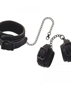 Fetish Submissive Neck and Wrist Cuffs