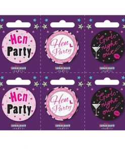 Hen Party badges.